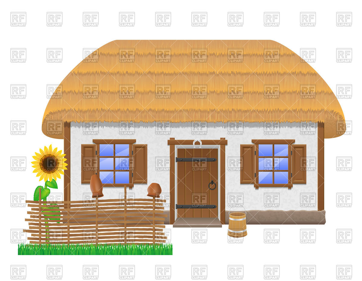 Old farm house clipart.