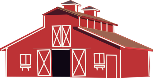 Farm house vector clip art.