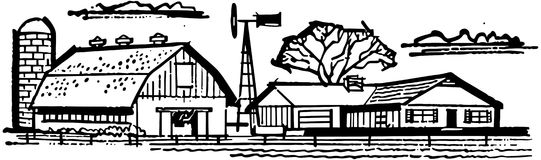 Farm House Clipart Black And White