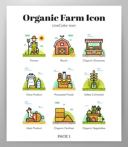 Organic farm icons.