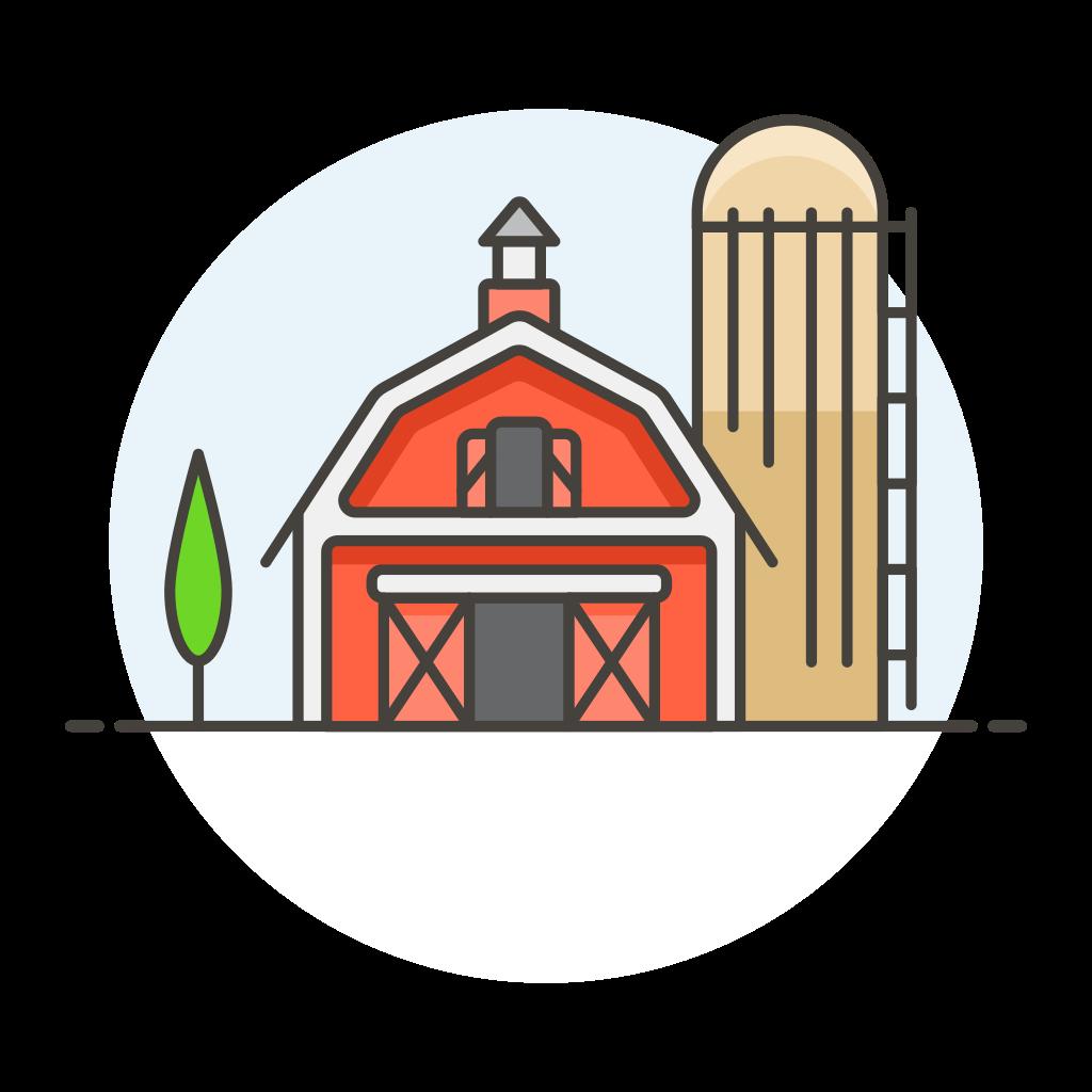 Farm barn Icon.