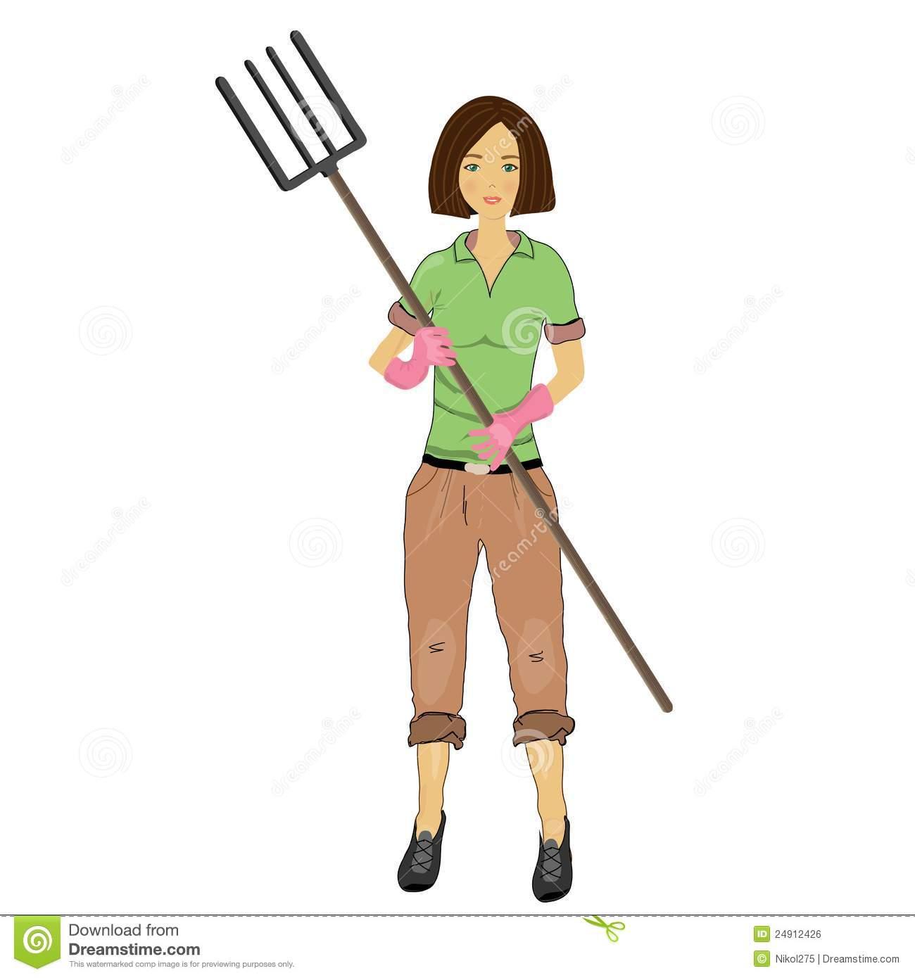 Woman Farmer Clipart.