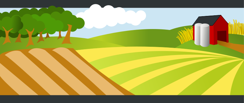 Farm land clipart.