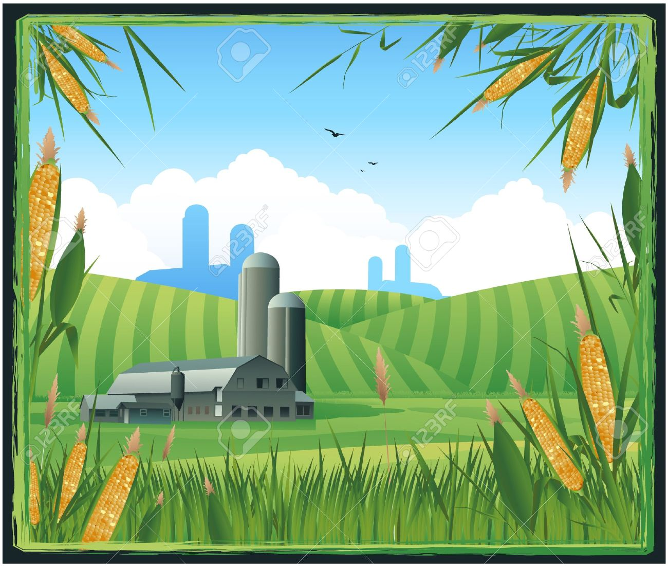 Agricultural land clipart.