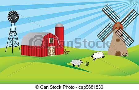 Farmland clipart #7