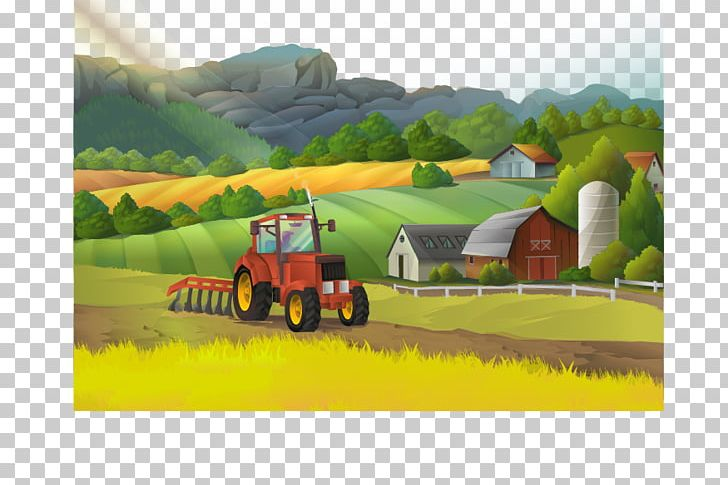 Farm Landscape Rural Area Illustration PNG, Clipart.