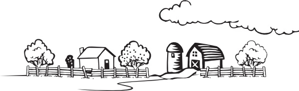Coloring Book Farm Landscape clip art Free vector in Open.