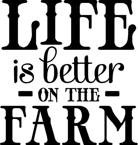Amazon.com: Life Is Better On The Farm Wall Quote Words Farm.