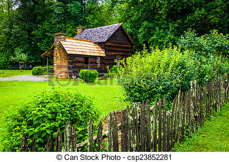 Pictures of House at the Mountain Farm Museum in the Oconaluftee.
