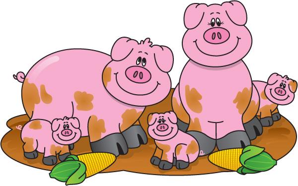Farmer Pig Clipart.