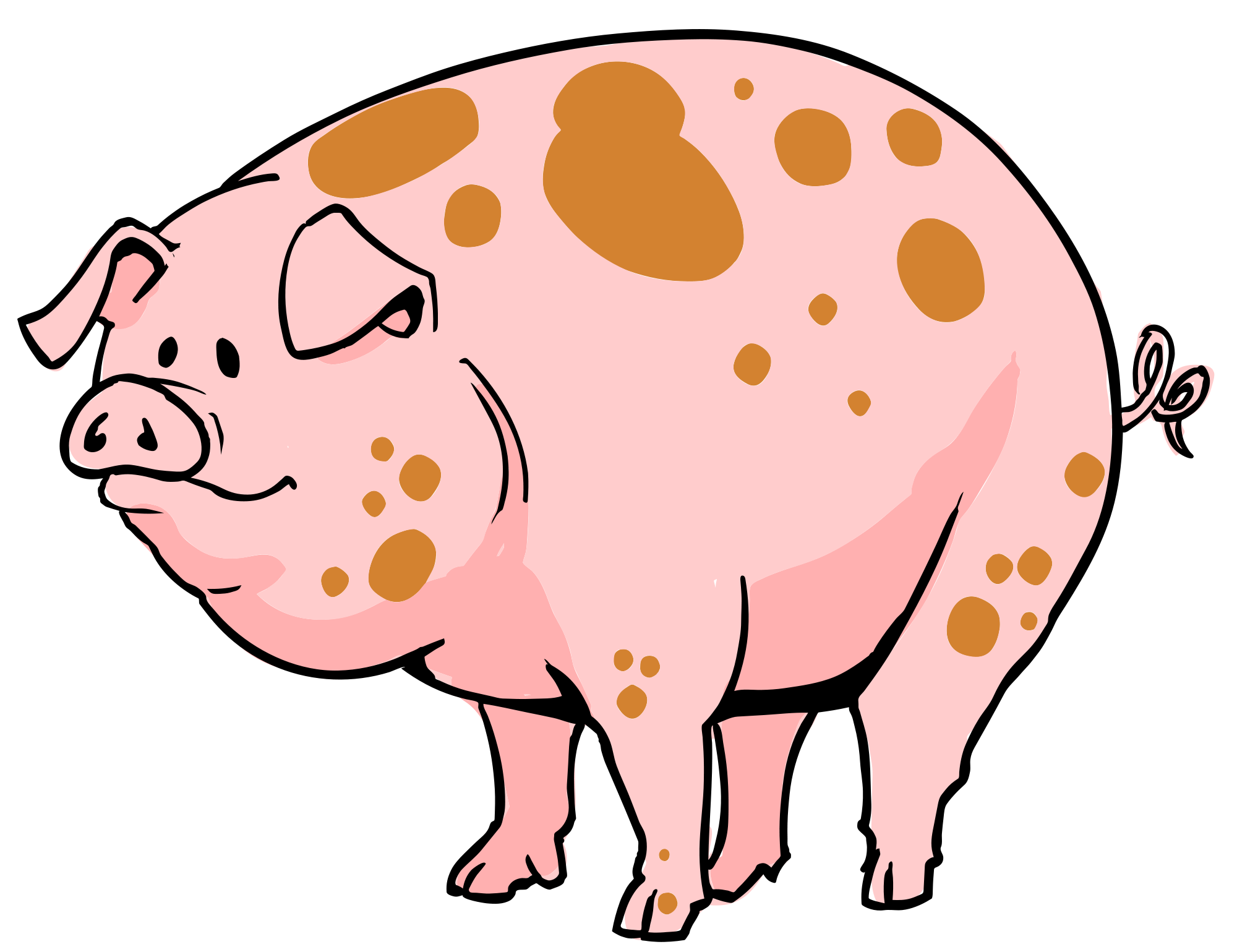 Pigs clipart farm animal, Pigs farm animal Transparent FREE.
