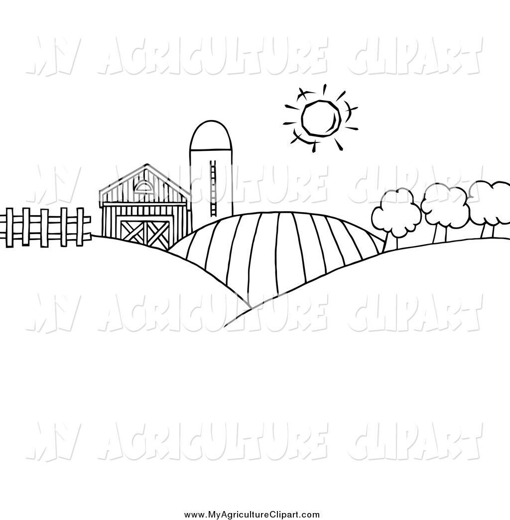 Free Farm Scene Clipart Black And White, Download Free Clip.