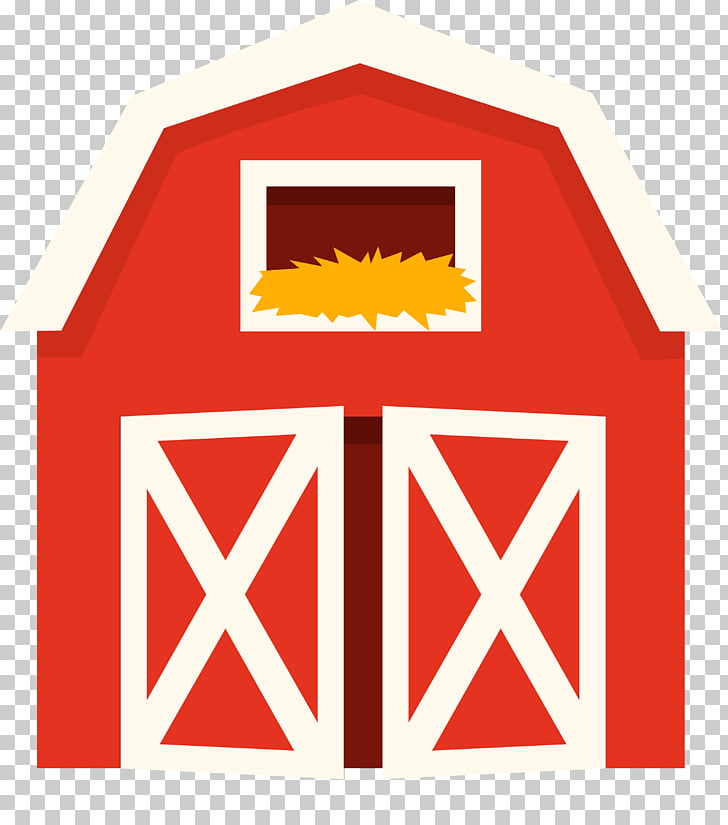 Cattle Farm Pen Barn , farm house, red and white tool shed.