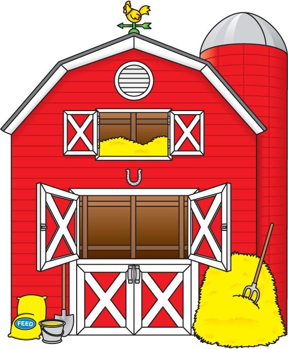 Farmhouse clipart farm shed, Farmhouse farm shed Transparent.