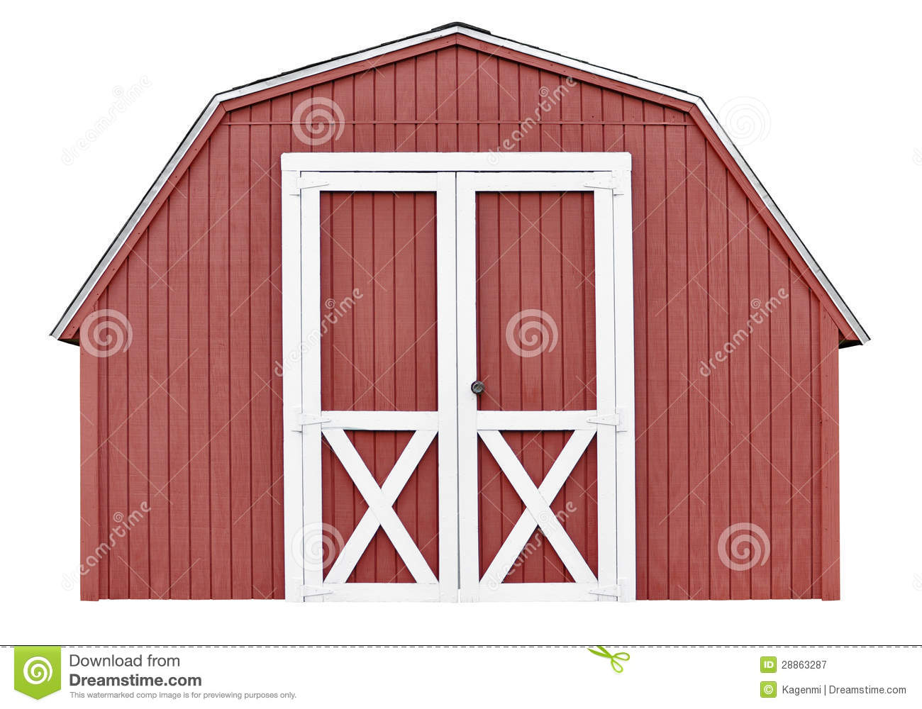 Barn Style Utility Tool Shed For Garden And Farm Equipment Royalty.