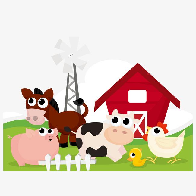 Farm Animals Vector Material, Farm Vecto #51491.