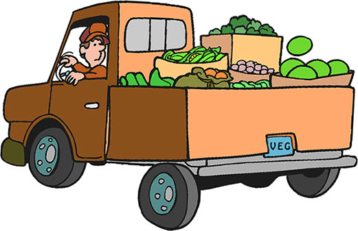 Old farm truck clipart.