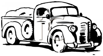 Royalty Free Clip Art Image: Vintage Farmer's Truck.