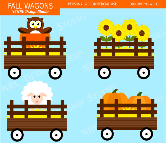 Fall Wagon Clipart.