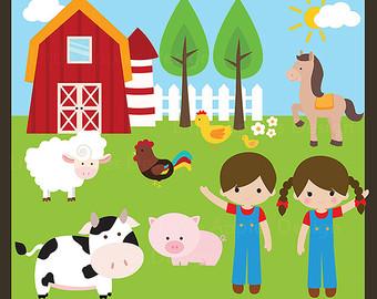 Cute Farm Clipart.