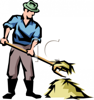 Farmer Working Clipart.