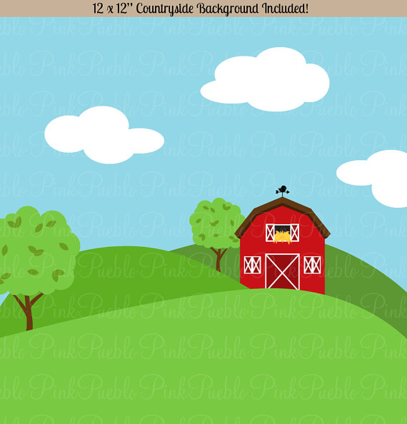 Farm Animals Clipart, Farm Animals Clip Art, Barnyard Clipart.