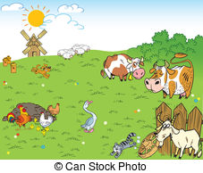 Farmyard Illustrations and Stock Art. 929 Farmyard illustration.