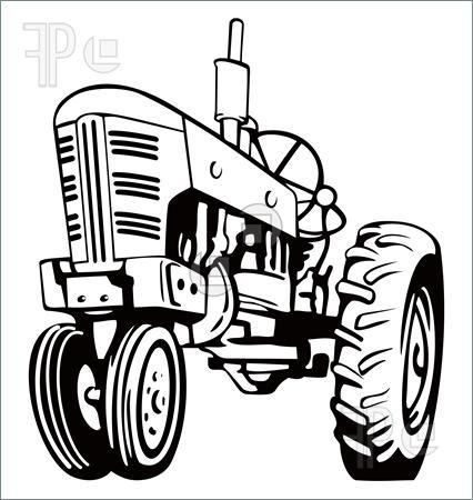 Farmall tractor clipart.