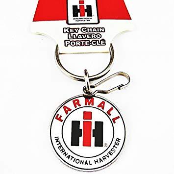 UAA INC. Farmall International Harvester Logo Enamel Key Chain Keychain.