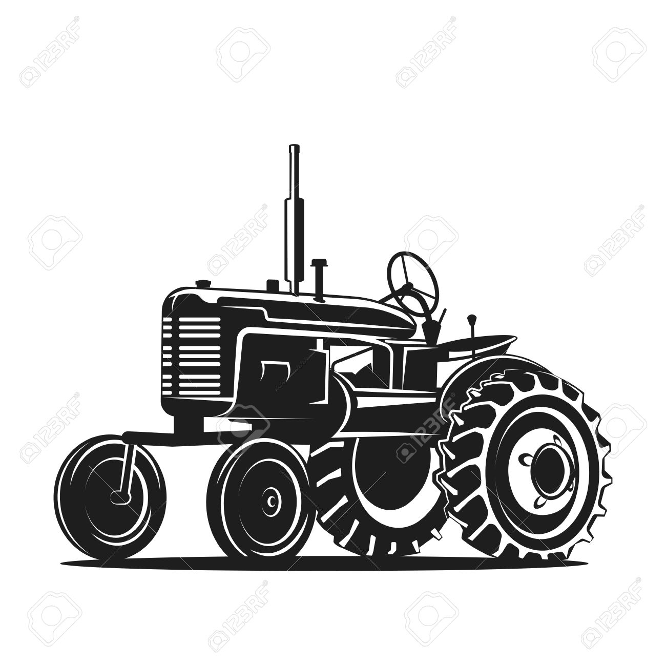 Farmall Tractor Silhouette at GetDrawings.com.