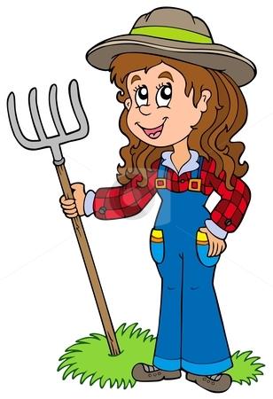 Woman farmer clipart kid.