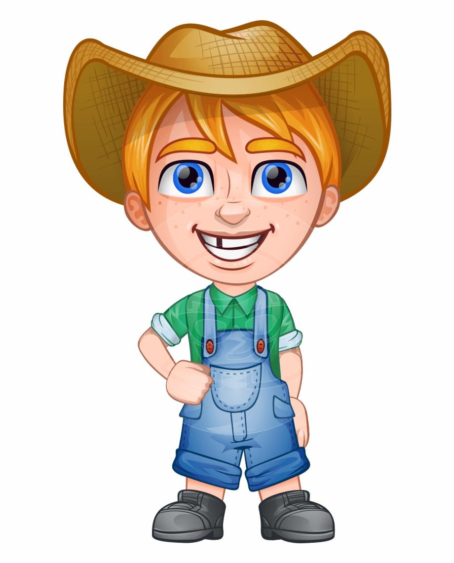 Farmer Png Little Farm Boy Clipart.