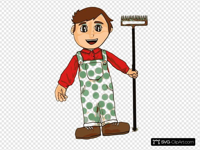 Farmer Boy Clip art, Icon and SVG.