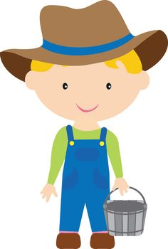 Little people farmer clipart.