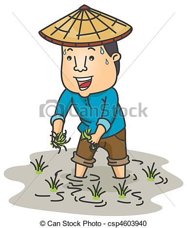 farmer clip art vector #86307990.