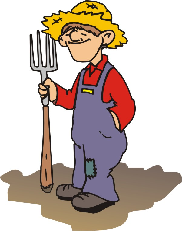 Cartoon Farmer Clipart.