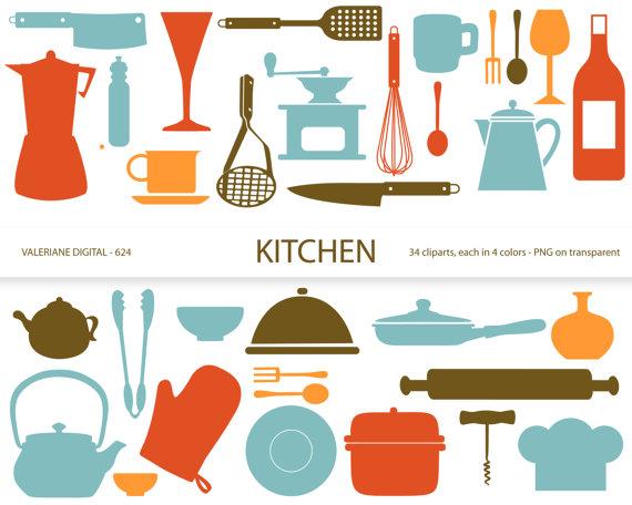 Retro Kitchen Clipart.