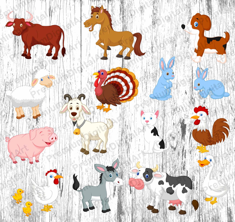 Farm animals clipart.