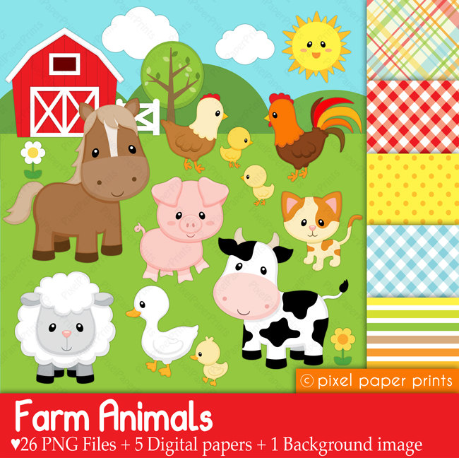 Cute Animal Farmer Clipart.