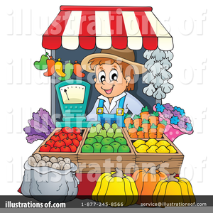 Clipart Of Farmers Market.