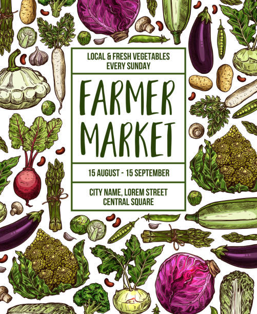 Best Farmers Market Illustrations, Royalty.