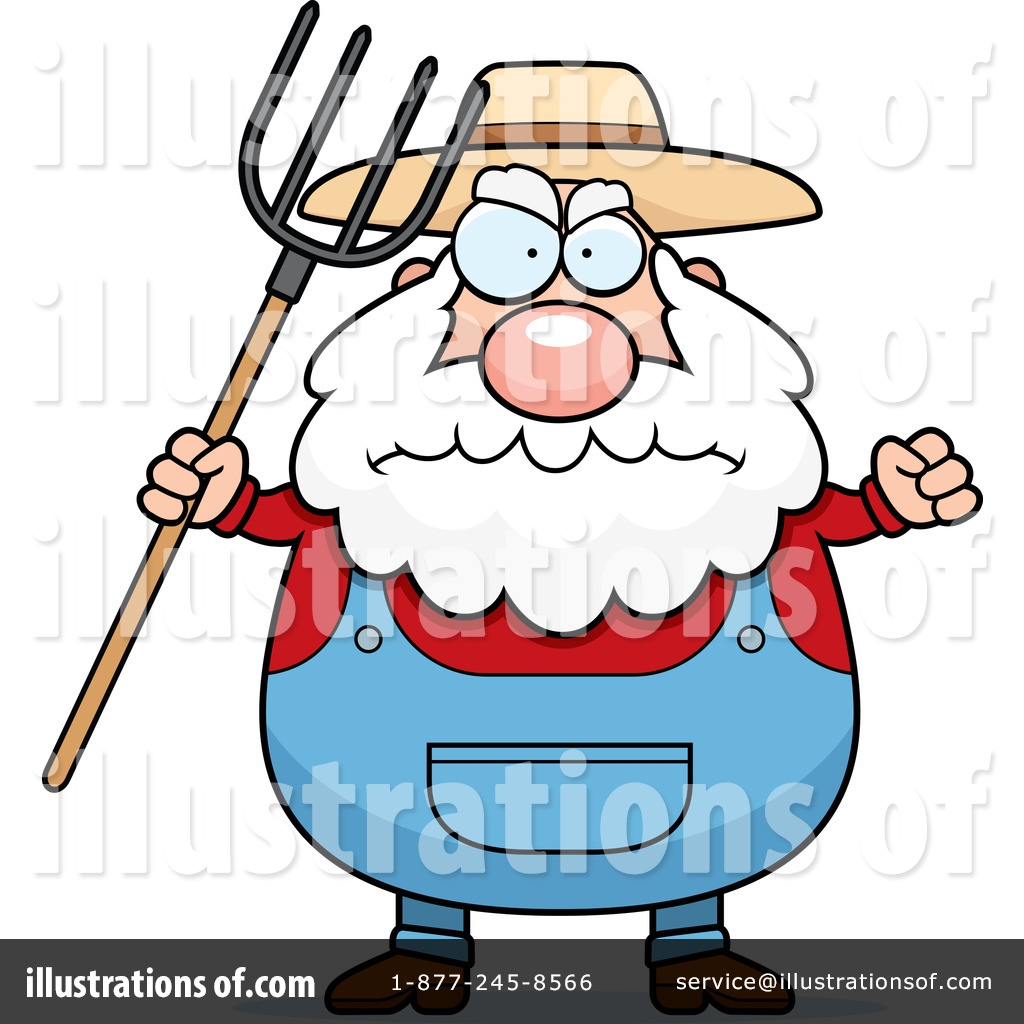 Angry farmers clipart.