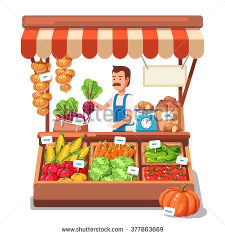 Vegetables market clipart.