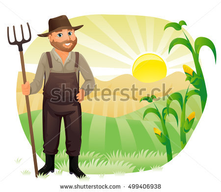Illustration Sweet Corn Character Presenting Something Stock.