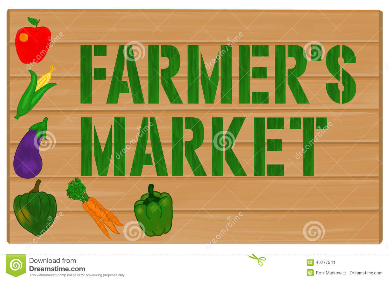 Farmers Market Stock Illustrations.