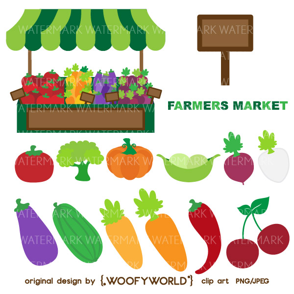 Greensboro Farmers Market Clipart.