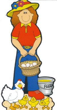 Farmer And Wife Clipart.