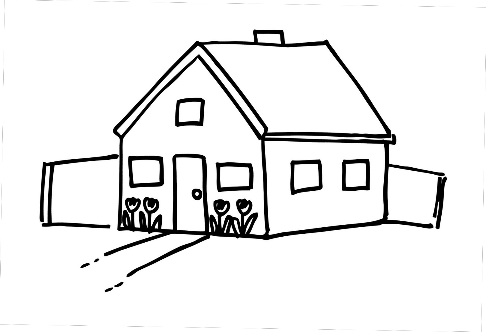 Farm House Clipart Black And White.