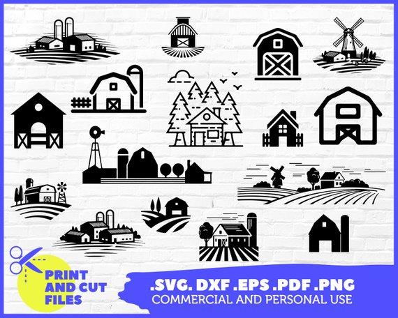FARMHOUSE SVG, Barn SVG, farm svg, Barn Clipart, farmhouse.