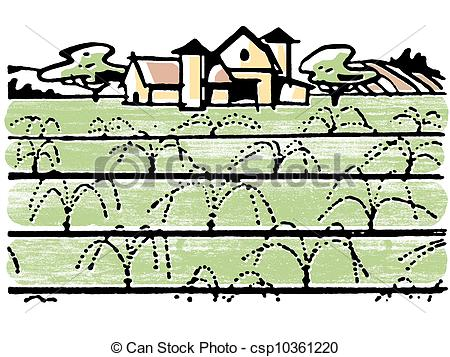 Clip Art of An illustration of a farmhouse csp10361220.